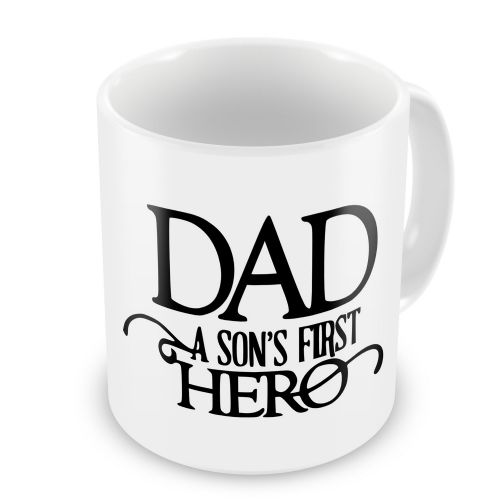 Dad A Son's First Hero Novelty Gift Mug